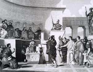 Artist rendition of the Roman Senate