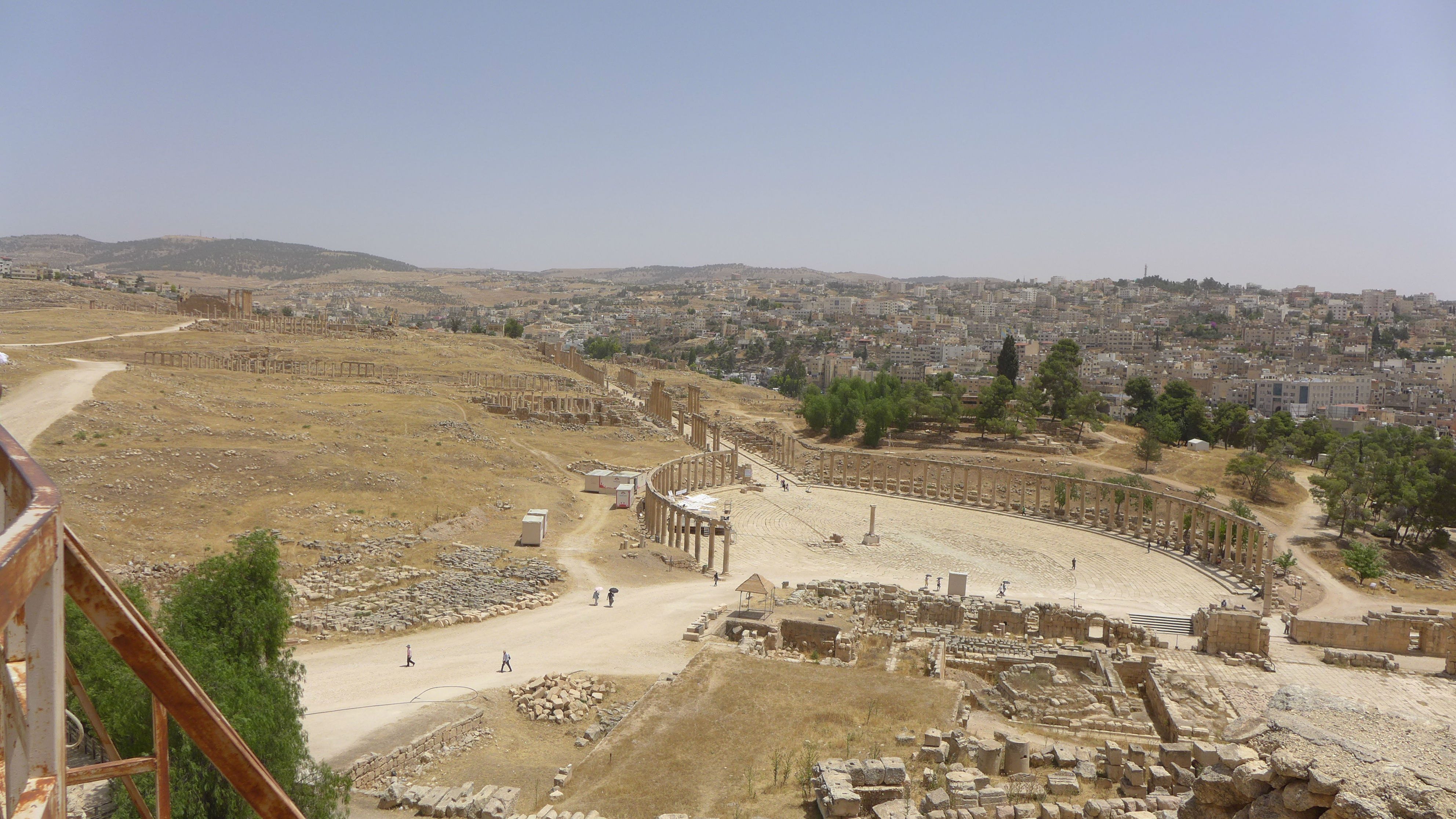 view of old city and landscape in Jordan