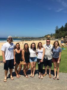 Penn State Students at the beach in Australia