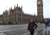 Natalie Keller posing in front of Big Ben