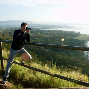 Patrick taking a photo of the Kenyan lanscape