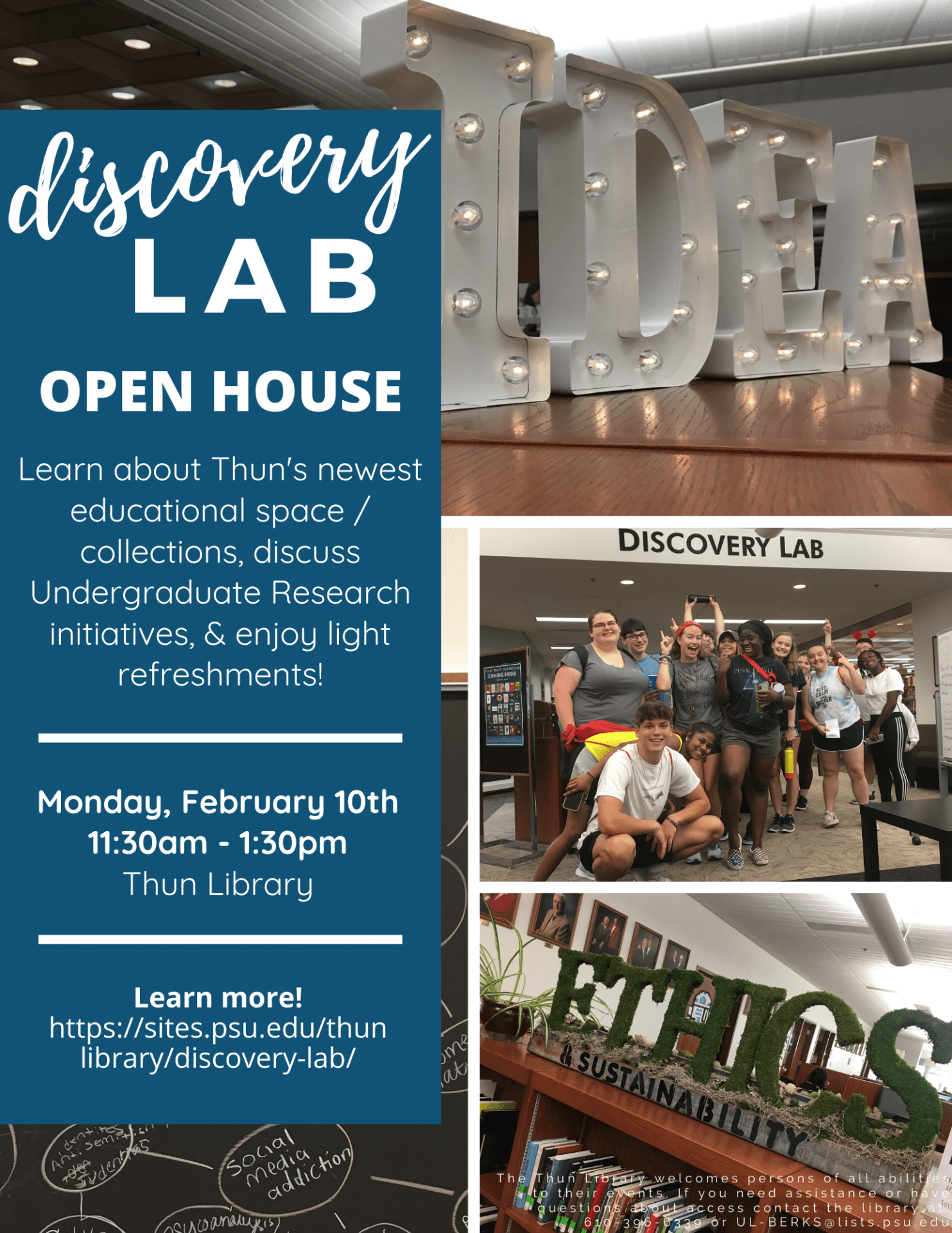 Disovery Lab Open House Flyer