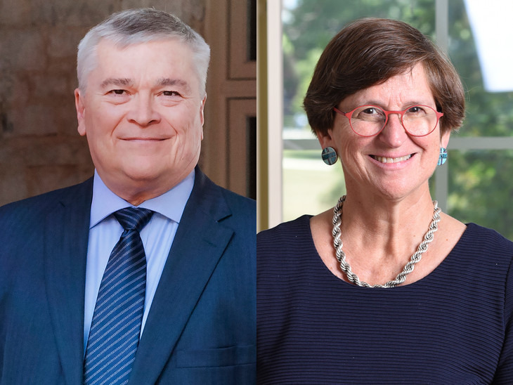 Portraits of Eric Barron and Ann Crouter.