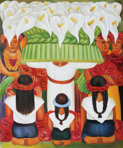 Flower Festival Feast of Santa Anita by Diego Rivera OSA117