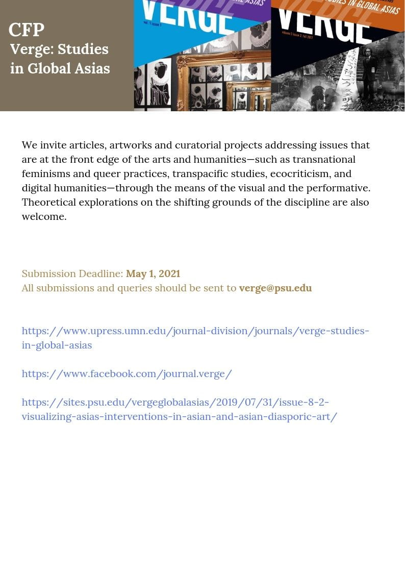 Issue 8 2: Visualizing Asias: Interventions in Asian and