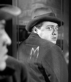 Peter Lorre in M, directed by Fritz Lang
