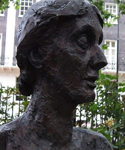 Stephen Tomlin, Bust of Virginia Woolf, original 1931, bronze copy in Tavistock Square, London