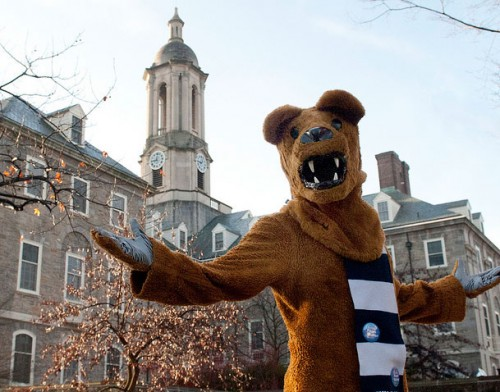 Nittany Lion outside of Old Main.