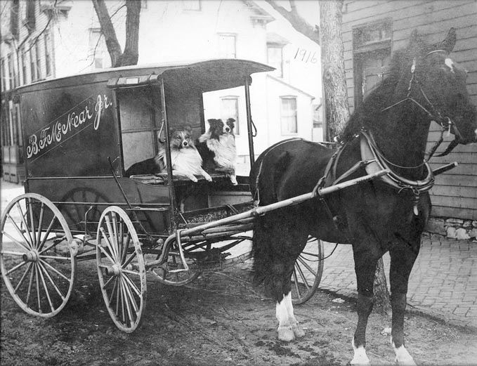 Ben McNear's Delivery Wagon, Grocer at Conestoga and Main Streets, 1916