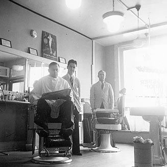 Capello's Barber Shop (Interior and Exterior) 32 N. Front St.