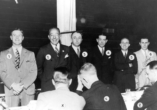 Coaches Attending Early S.H.S. Sports Banquet, 1934