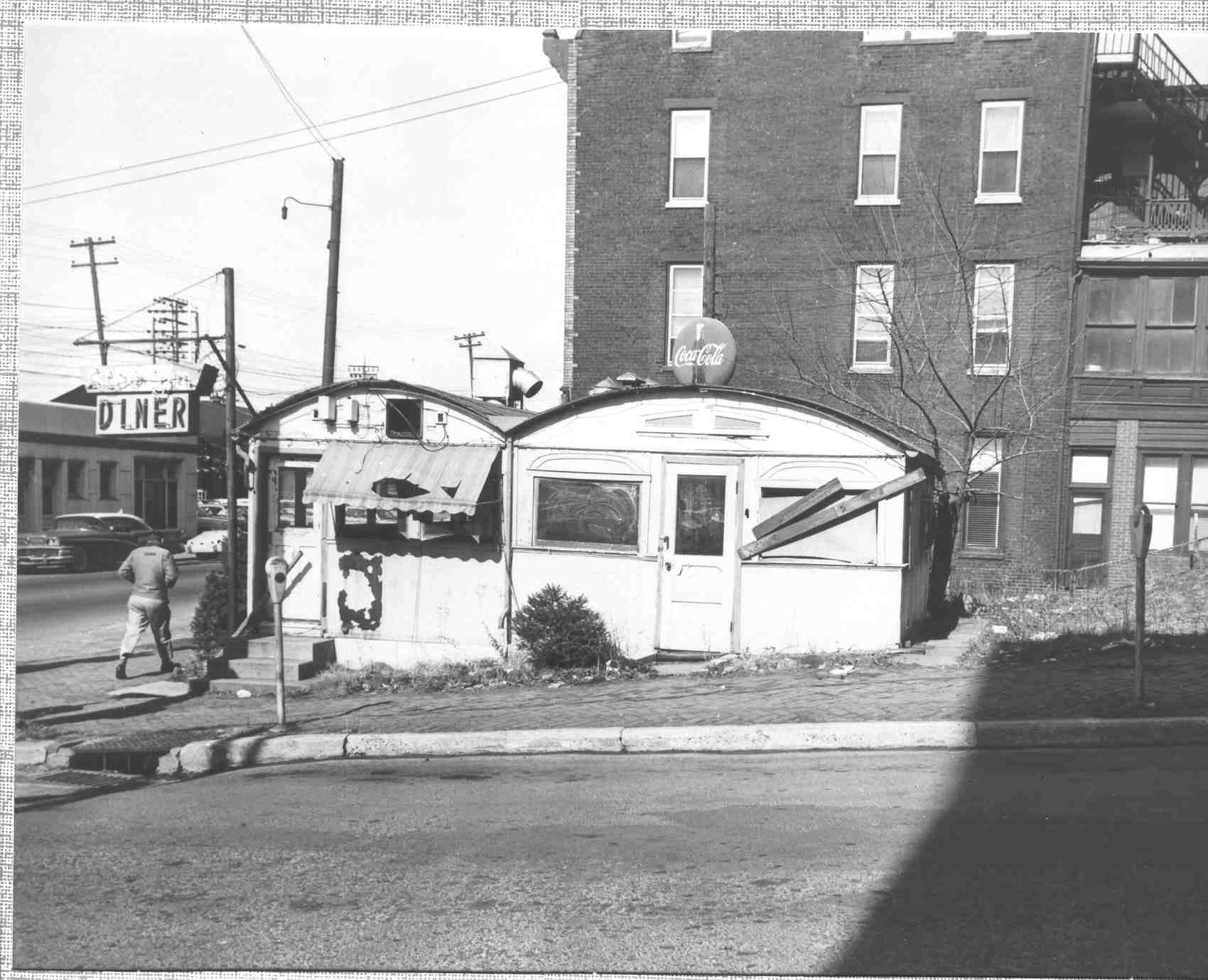 Diner, end view, Front and Swatara Streets