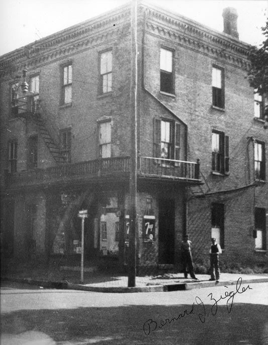 Dr. Wm. Zeigler's Drug store, Main and Conestoga Streets