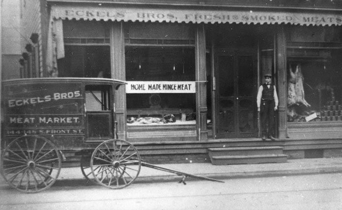 Eckel's Bros. Meat Market and Butcher Wagon, 148 S. Front St.