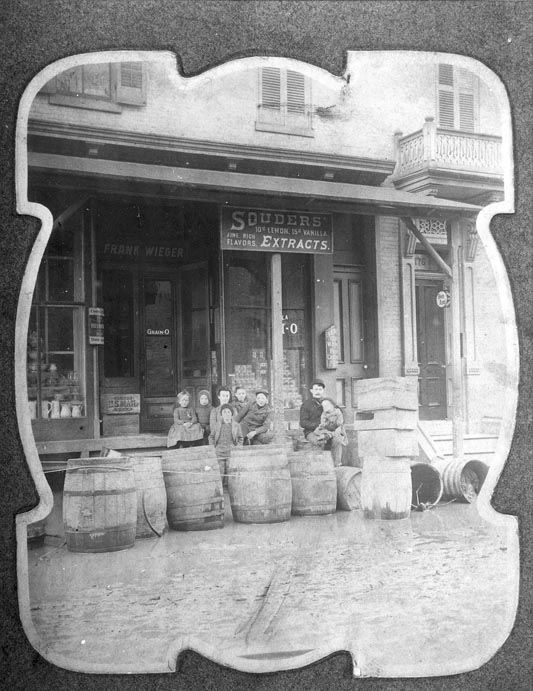 Frank Wieger's Grocery, 172 Myers St., 1880-1899