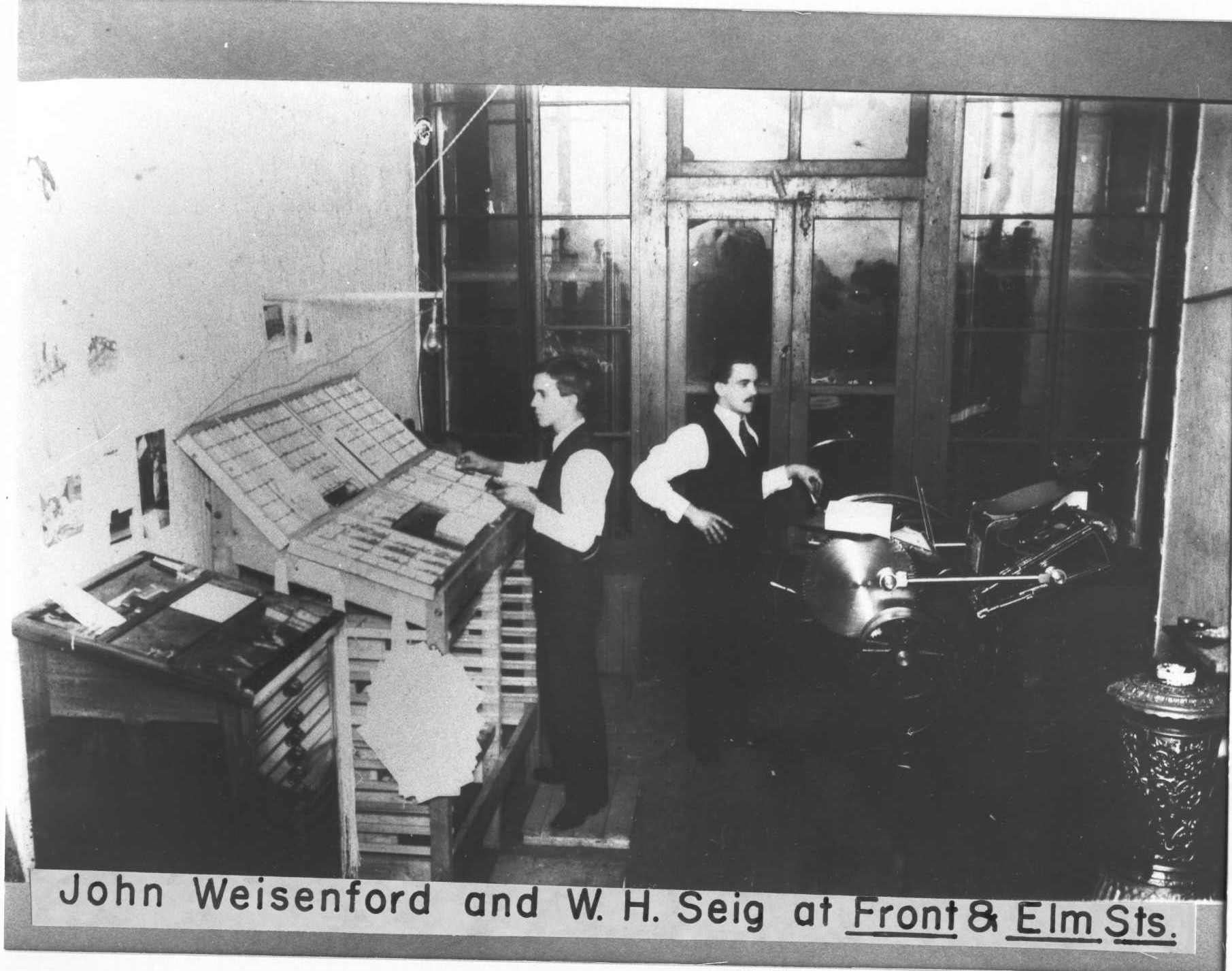 John Weisenford and W.H. Seig