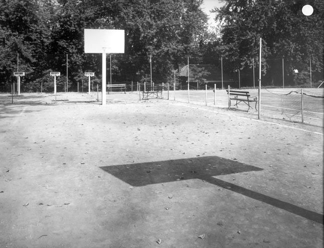 Lee's Tennis Courts. Also Quoits and Basketball, 1945.