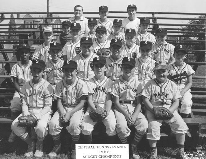 Midget Baseball Team, Central PA Champs, 1958