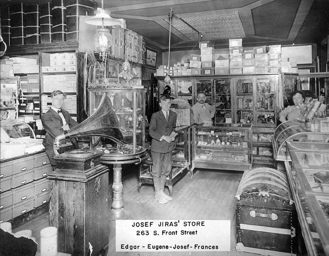 Oldest Photo of Josef Jiras' Store, 1909