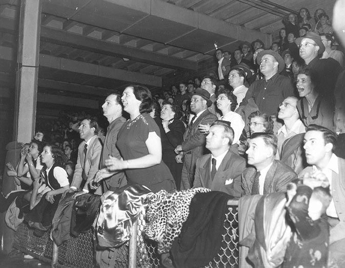 S.H.S. Basketball Fans in the Old Gymnasium