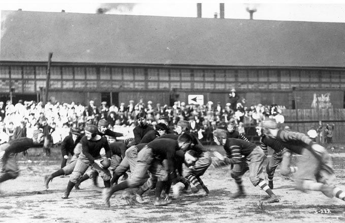 S.H.S. Football Game Near Plant and Chambers Street, 1909