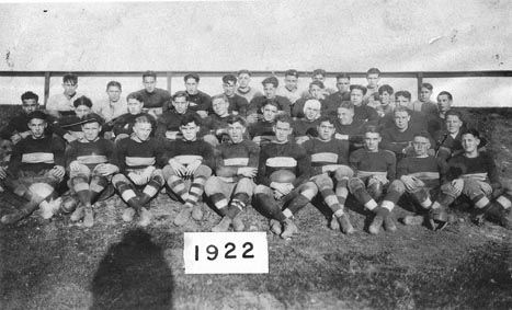 S.H.S. Football Squad, 1922