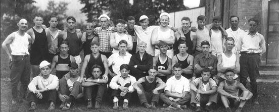 S.H.S. Football Squad at Pine Grove Furnace, 1925