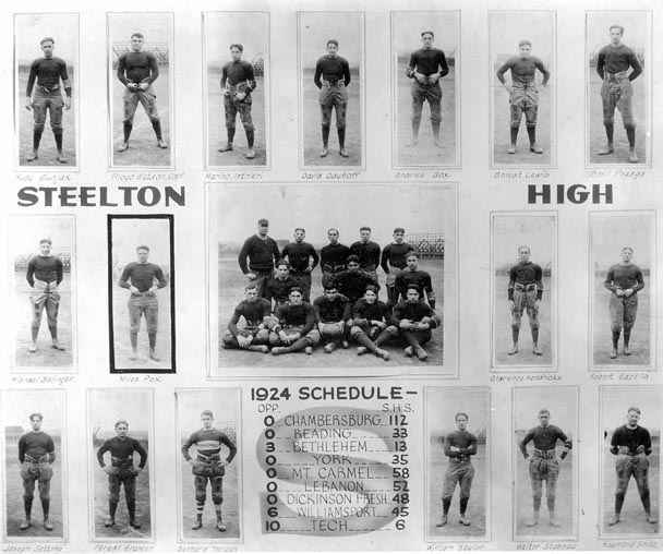 S.H.S. Football Team Individual, Players and Scores