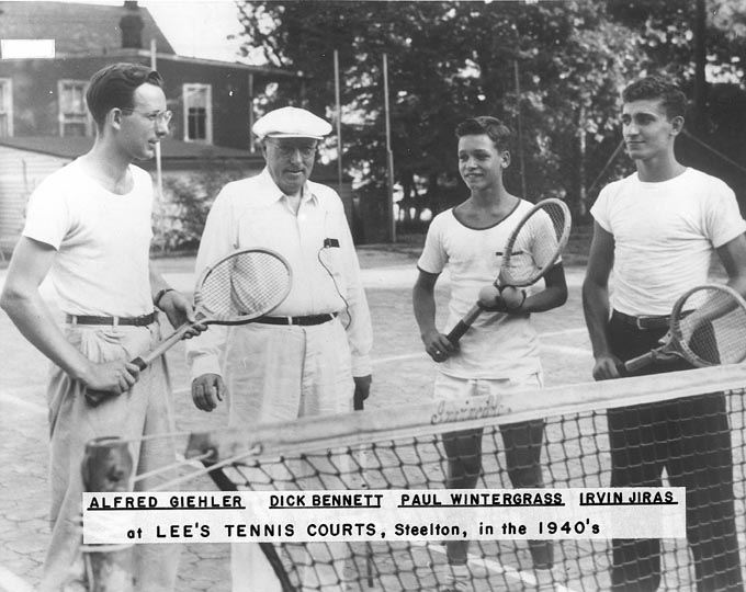Tennis Players on Lee's Courts, 1942